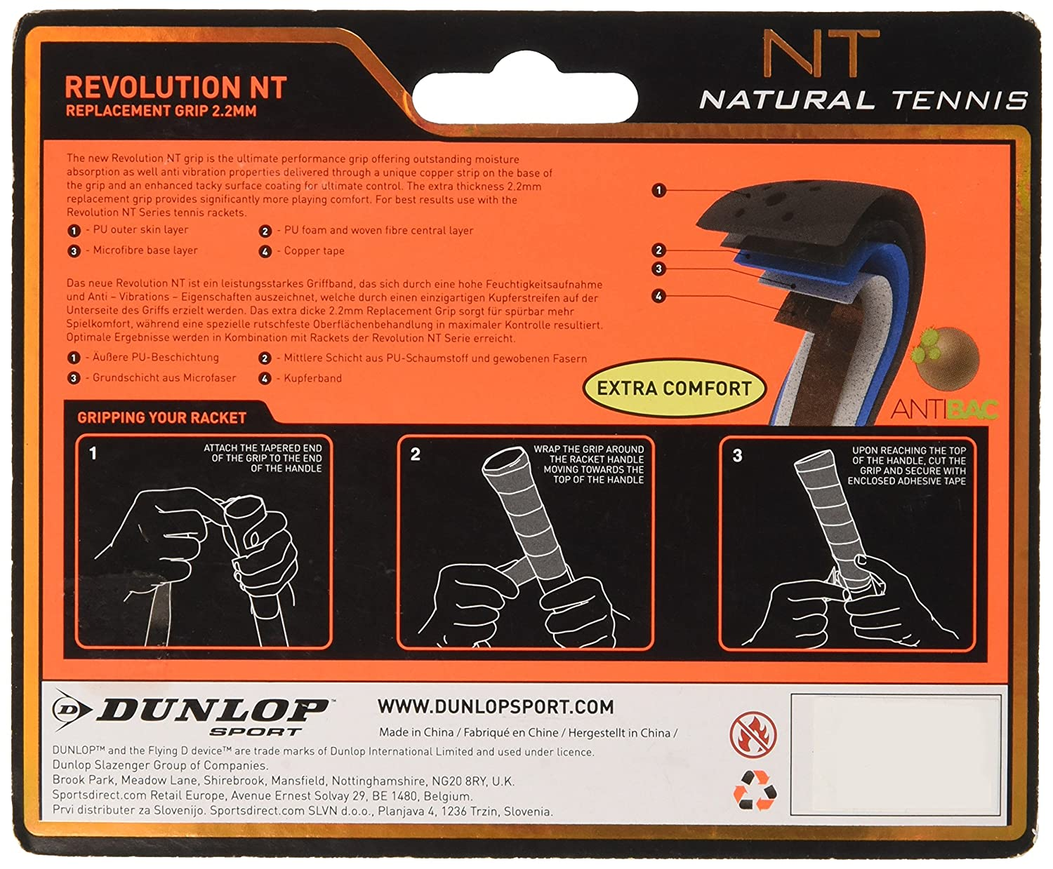Superior Dunlop Unisex D Tac Revolution Nt Rep Grip Tape, Black, 2.2 Mm:  Amazon.co.uk: Sports U0026 Outdoors Gallery