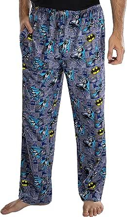 INTIMO DC Comics Adult Classic Batman Comic Allover Print Loungewear Pajama Pants for Men