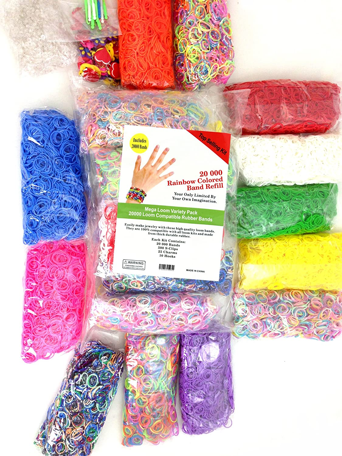Other Kids Arts Amp Crafts 20 000 Loom Band Refill Kit