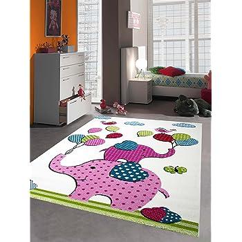 kinder teppich vogel design creme blau orange gr n gr sse 160x230 cm. Black Bedroom Furniture Sets. Home Design Ideas