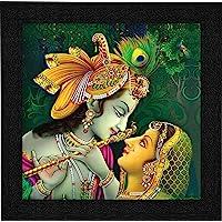 SAF Radha Krishna UV Coated Home Decorative Gift Item Frame Painting 12 inch X 12 inch SAANF6137
