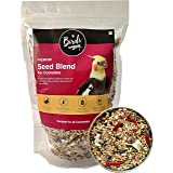 The Birds Company Premium Seed Blend of 9 Grains & Nuts, Fortified with Spirulina & Cuttlefish Bone, Bird Food for Cockatiels