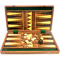 """Ages Behind Wooden Backgammon 16"""""""