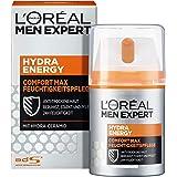 L'Oréal Men Expert Ansiktsvård för män, fuktkräm för känslig och torr hud, Hydra Energy Comfort Max fuktkräm, 1 x 50 ml