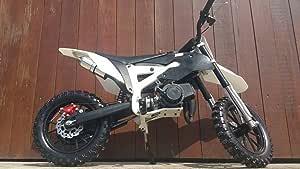 Pocketbike Crossbike Dirt Bike 49cc 2 Stroke Rv Racing Kids Motorbike Black Sport Freizeit