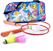 elan Frame Orange Short Handle Racquets Badminton Toy Set