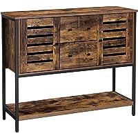 VASAGLE Meuble de rangement, Buffet, avec 2 tiroirs, 2 placards, étagère, pour salle à manger, salon, cuisine, 100 x 35…