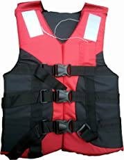 Ajmeri Adult Safety Life Jacket for Swimming Superlite Vest Weight Capacity Up to 120kg (Multicolour)