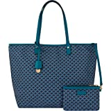 Accessorize London womens GEO PRINT TOTE BAG BLUE Tote Bag -One Size (MN-99005440001)