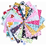 """Charming Packs (42 x 5"""" Squares) Wide Range of Themes, Premium Brands, 100% Cotton (Sugar and Spice - Traditional Girl Themes"""