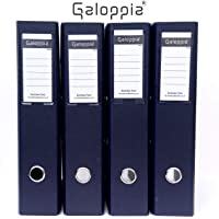 GALOPPIA PVC Coated Box File (Pack of 4)