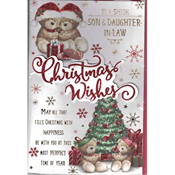 Son And Daughter-in-Law Christmas Card ~ To A Very Special Son & Daughter-in-Law Merry Christmas ...