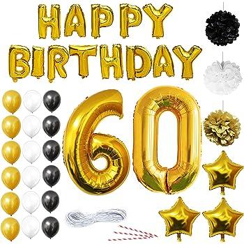 Ocballoons Palloncini Compleanno 60 Anni Addobbi E Decorazioni Per