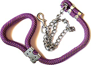 MeraPuppy Dog Chain with Rope Handle Big (Blue)