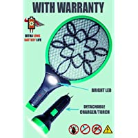 Viola Rocklight Rechargeable Mosquito Racket Bat with Detachable Double Torch