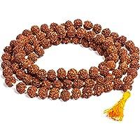Saubhagya Global Rudraksha Jaap Mala for Pooja (Astrology) (108+1 Beads) 100% Pure & Lab Certified