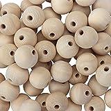 Belle Vous Natuurlijke houten ronde kralen (100 Pack) - 20mm - houten spacer kralen voor doe-het-zelf ambachten en sieraden m