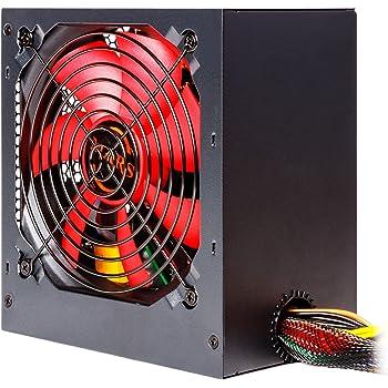 Mars Gaming MPII650 - Alimentatore per PC, (650W, 12V, PFC attivo, ATX, ventilatore 12 cm, antivibrazione l'efficienza del sistema + 85%), rosso e nero