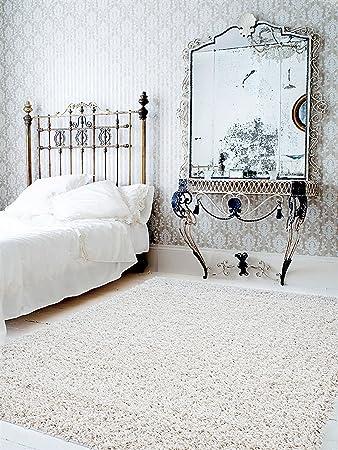 benuta shaggy hochflor teppich swirls beige 80x150 cm   langflor ... - Hochflor Teppich Wohnzimmer