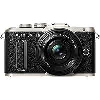 """Olympus PEN E-PL8 Systemkamera (16 MP, elektr. Zoom, Full HD, 3"""" Display, Wifi) + 14-42mm Pancake schwarz/silber"""