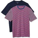 Amazon Essentials Hombre Camiseta de cuello a la caja de manga corta y ajuste clásico