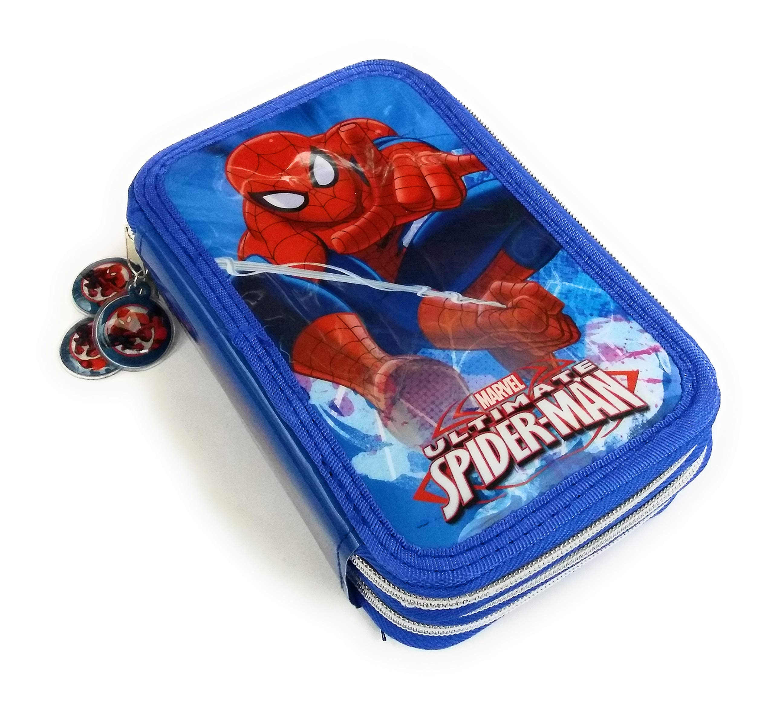 Estuche de 3cremalleras, con estampado de «Spiderman», cód. AST2211