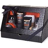 BRUBAKER Cosmetics Set di Cura per Gli Uomini Spa Sport 8 Parti con Gel Doccia, Shampoo, Deodorante, Crema per Il Viso, Peeli