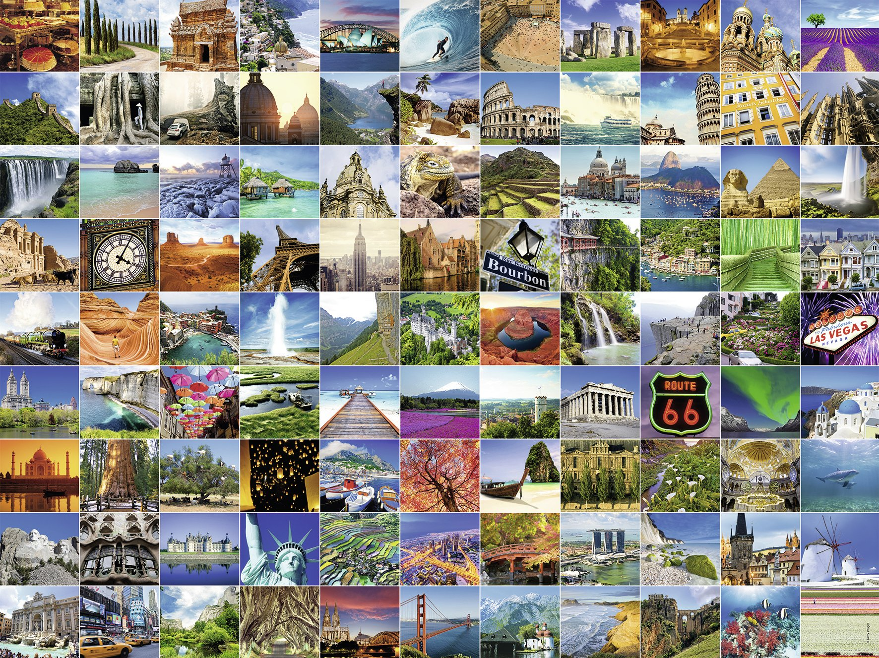 Ravensburger-16319-Classic-Puzzle-99-the-most-beautiful-places-of-world-1500-Teile