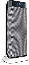 Brandson - Heizlüfter mit Fernbedienung | Keramik Schnellheizer mit Oszillationsfunktion | 2x Heizstufen | Timer | Blaues/zweistelliges LED-Display | Überhitzungsschutz | 2000W | Silence-Betrieb (geräuscharmer Betrieb) | inkl. IR-Fernbedienung | GS-zertifiziert
