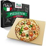 Pizza Divertimento Pizzasten för ugn och grill - Pizzasten och -spade - Tillverkad av kordierit - Stor pizzasten för krispig