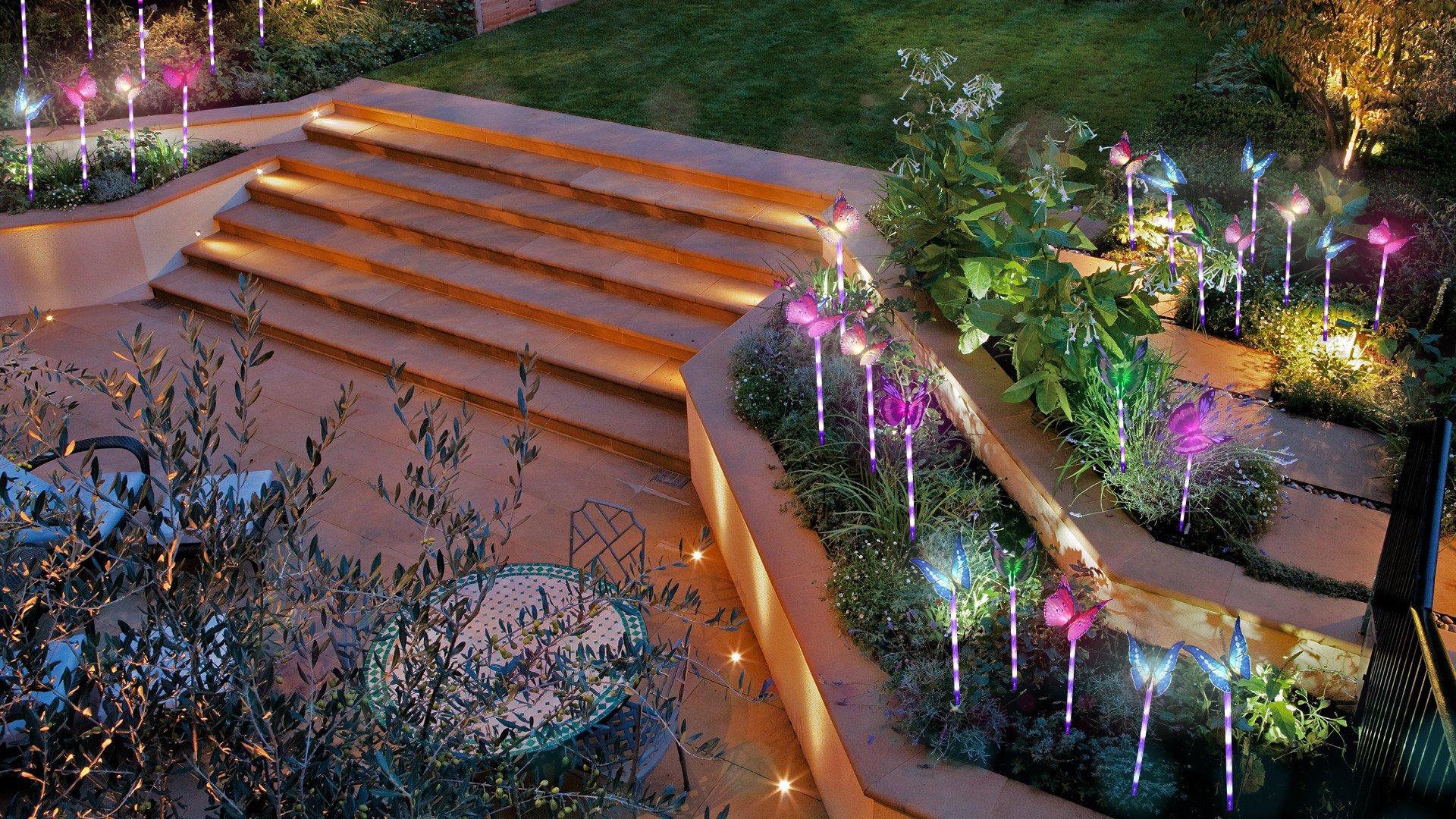Beleuchtung Außen Solarleuchte Garten, Lvyleaf 3 Packung