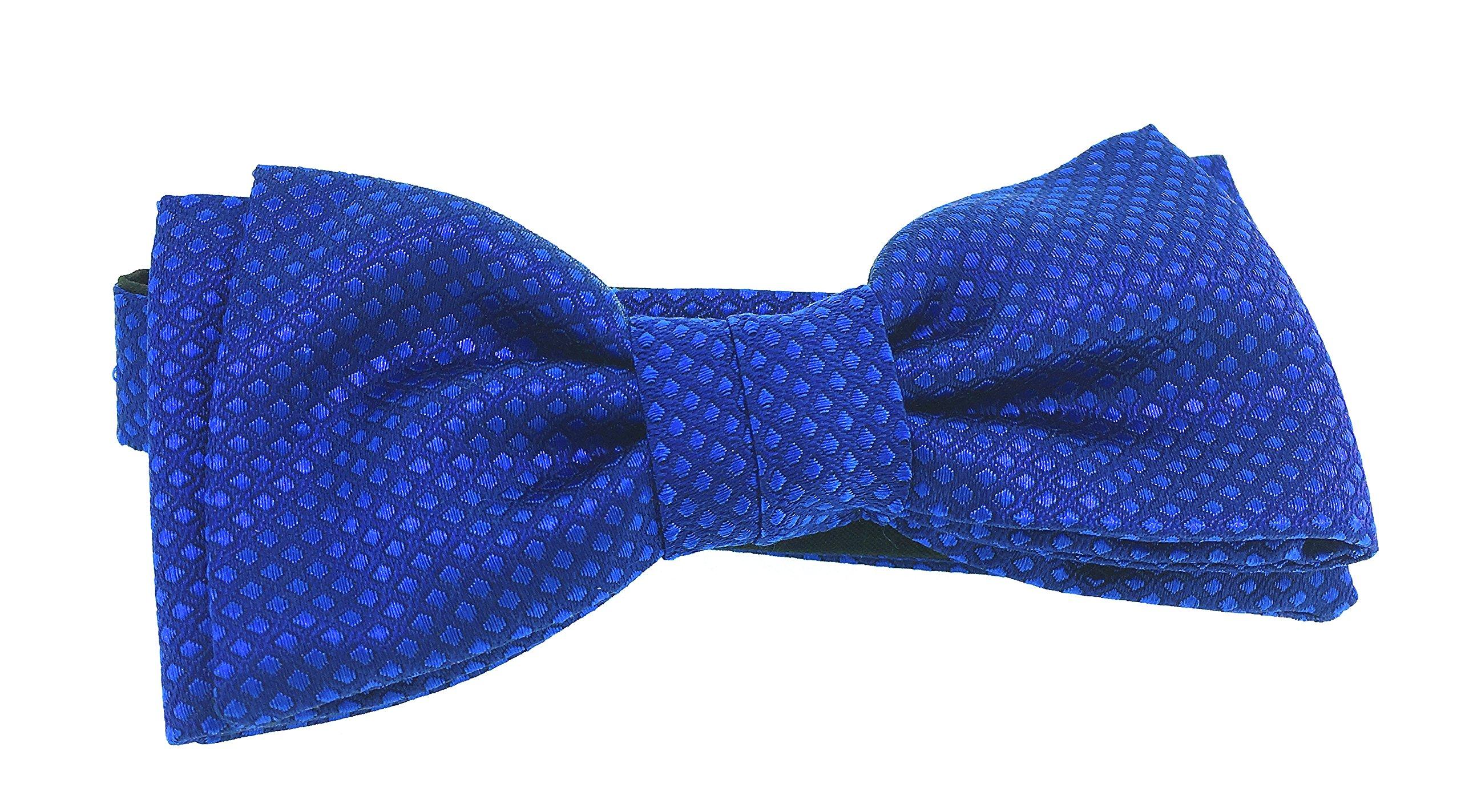 Pajarita HUGO de pura Seda Jacquard tonos azul marino y celeste