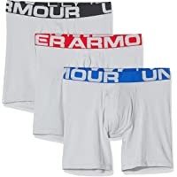 Under Armour 3 Pack Charged Cotton Sports Underwear (15cm), Men's Boxer Briefs Offering Complete Comfort, Fast-Drying…