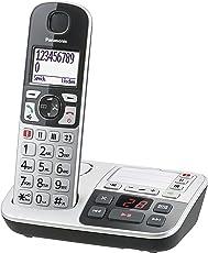 Panasonic KX-TGE520GS Senioren-Telefon, Silber/Schwarz