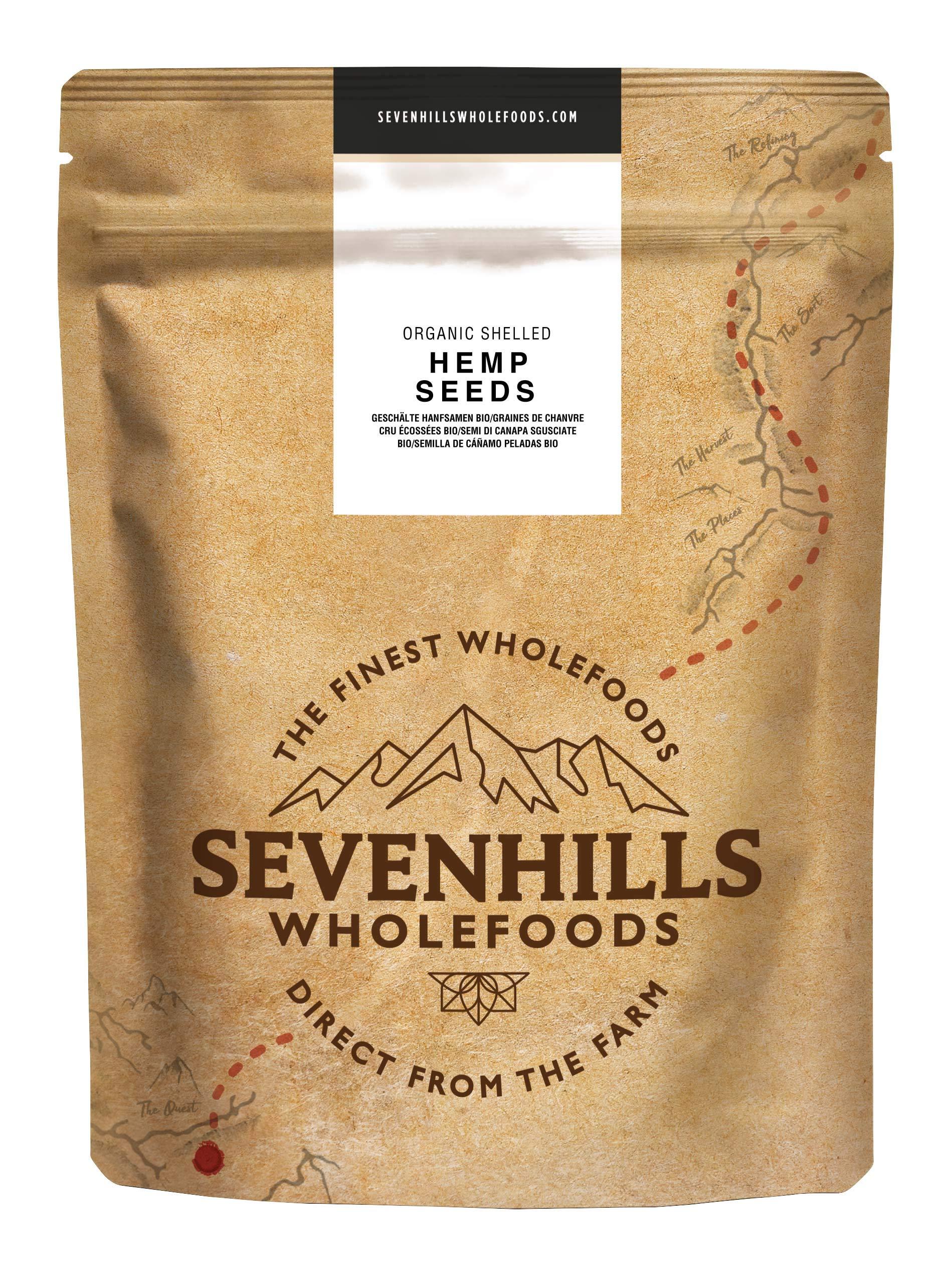 Sevenhills Wholefoods Organic Shelled Hemp Seeds 1kg 1
