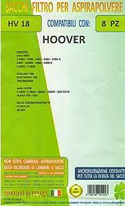 HV18 confezione 8 pezzi sacchetti ricambio HOOVER