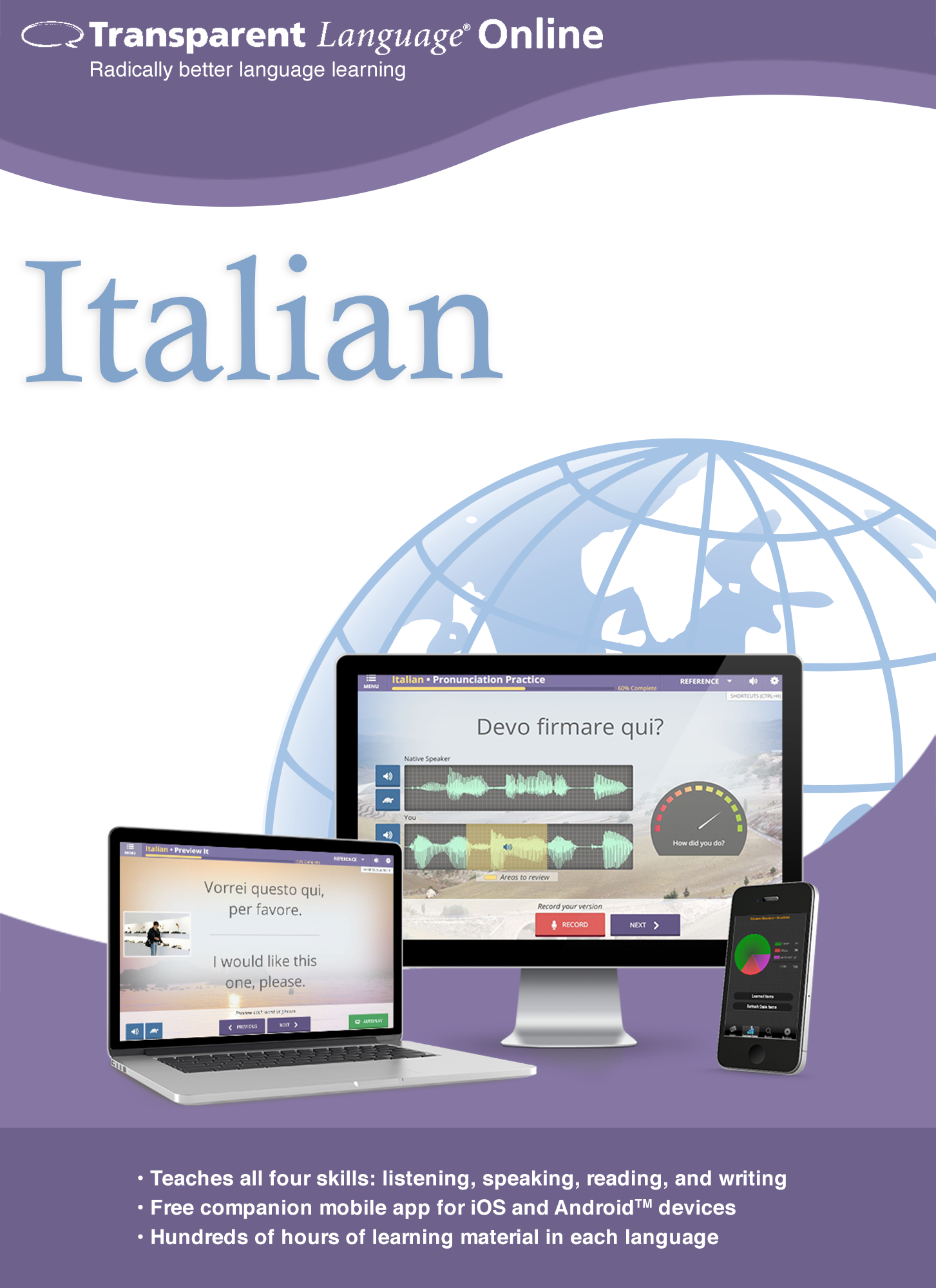 Price comparison product image Transparent Language Online - Italian - 12 Month Subscription for Mac [Online Code]