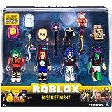 Roblox ROG0126 Mischief Night - Juego de 4 Figuras de acción con 4 Figuras, Accesorios y código de Juego para niños a Partir