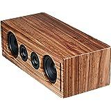RÖTH & MYERS BOSK Speaker HiFi - Altavoz Wifi / Bluetooth. Altavoz de estantería. Diseño Único en Madera de Zebrano 100% Natu