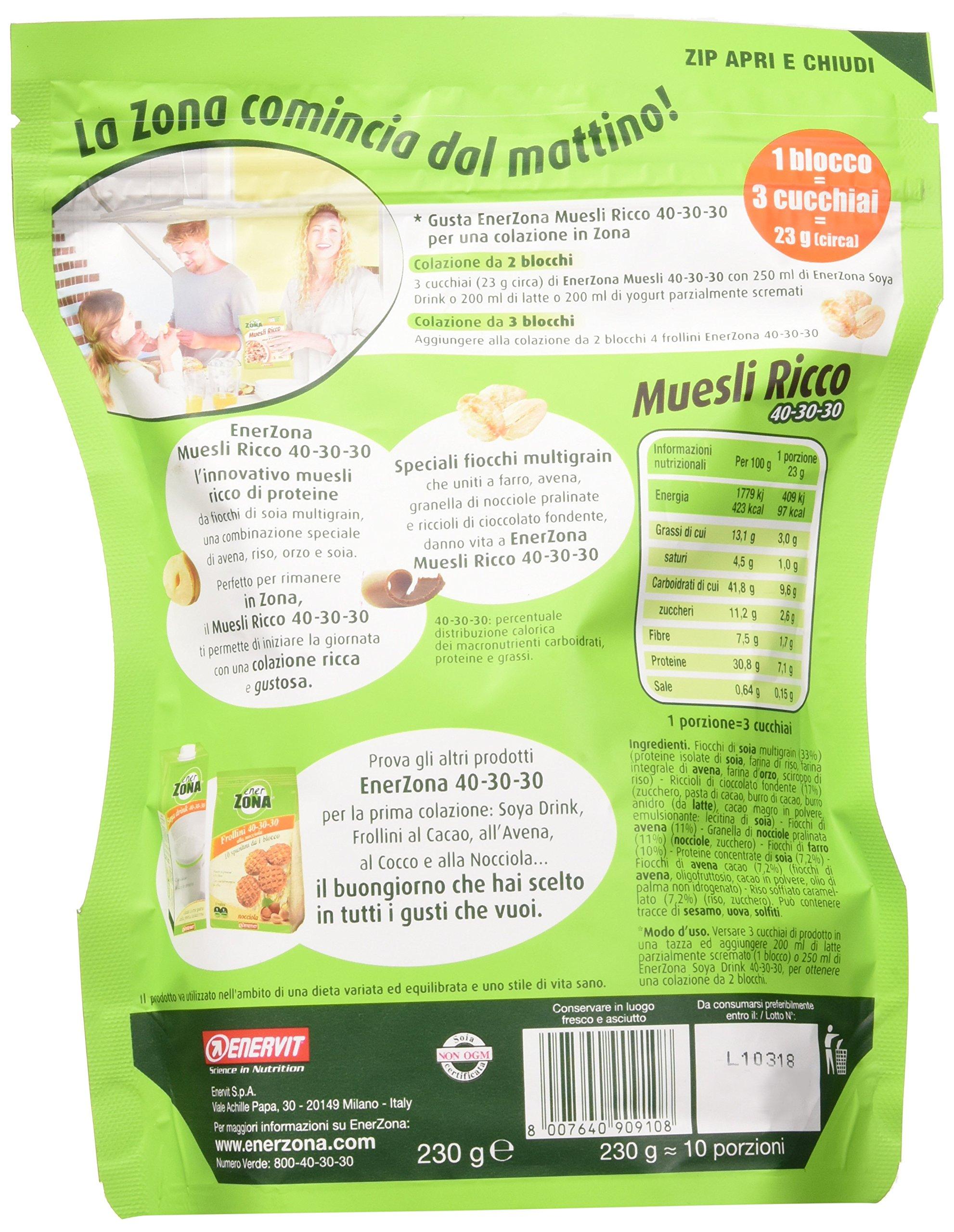 Enervit Enerzona Muesli Dark Chocolate 40-30-30 230 G 4 spesavip