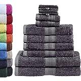 GREEN MARK Textilien 10er_anth Handdukset, Grå, Set med 10