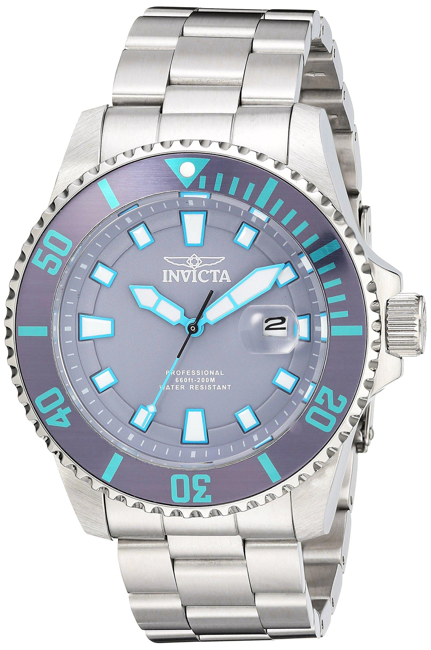 Invicta 90292 Pro Diver Reloj para Hombre acero inoxidable Cuarzo Esfera púrpura