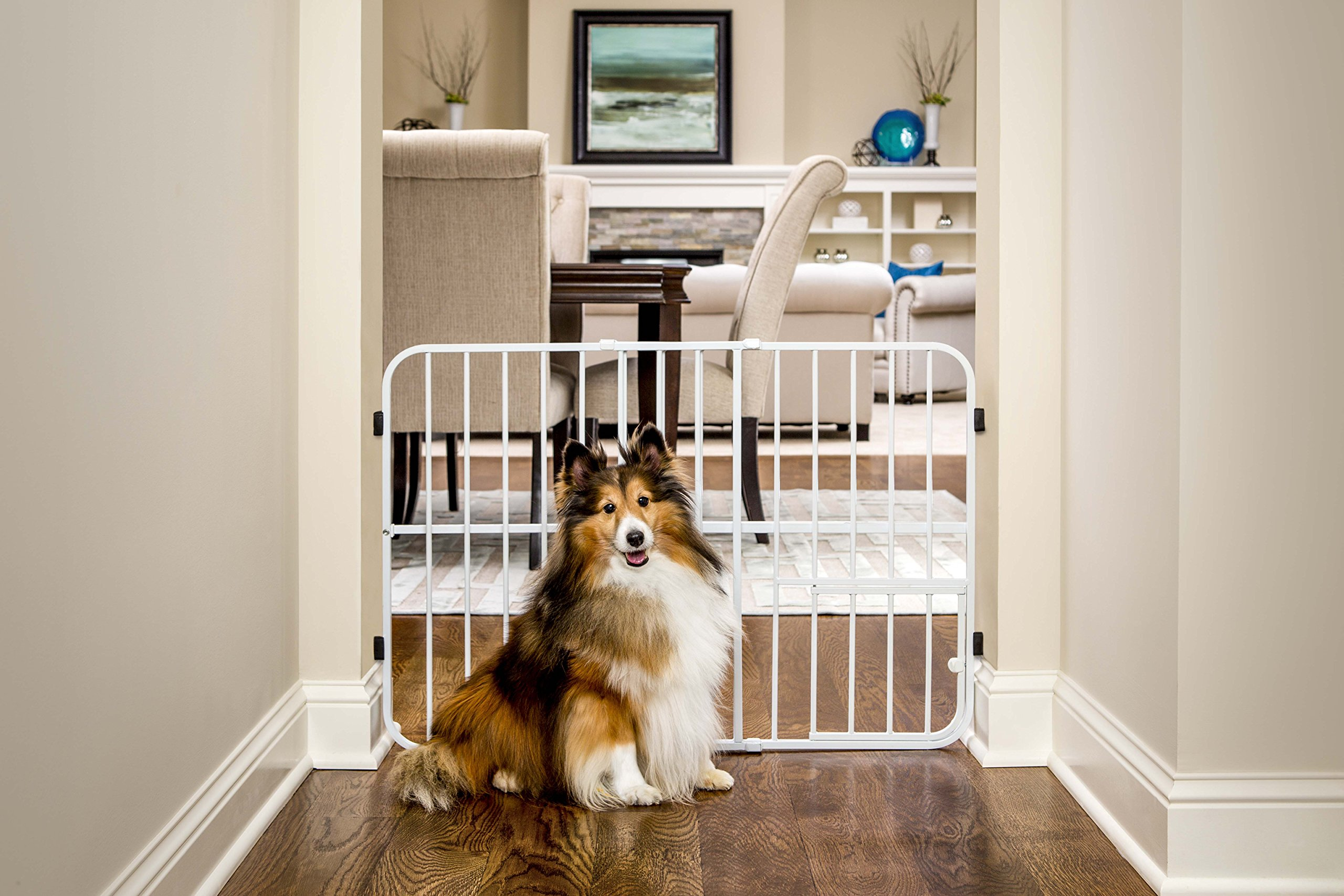 Carlson Tuffy Expandable Pet and Baby Gate, Pressure Mount
