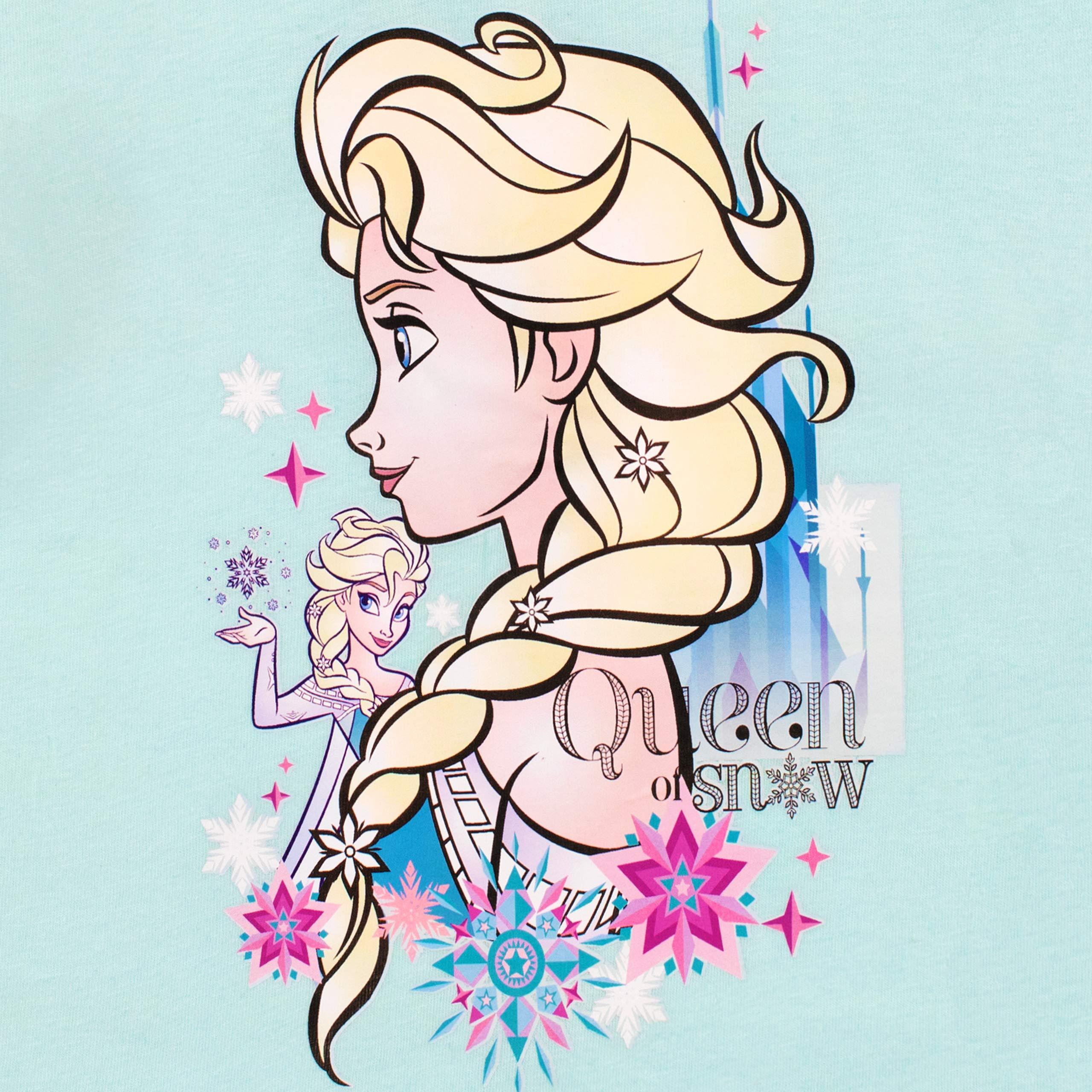 Disney Frozen Pigiama a Maniche Lunghe per Ragazze Il Regno di Ghiaccio
