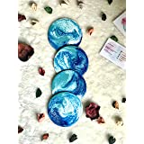 Sottobicchierie Con Effetto Marmo Resina Blu, Turchese & Bianco 10 cm Diametro 4+ Pezzi