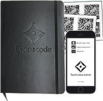 DropBook - Cahier Connecté A5 Carnet de Voyage QR Code APP IOS 24 Autocollants intelligents de stockage / Application DroptheCode disponible sur AppleStore (IOS) & Google Play (Android)