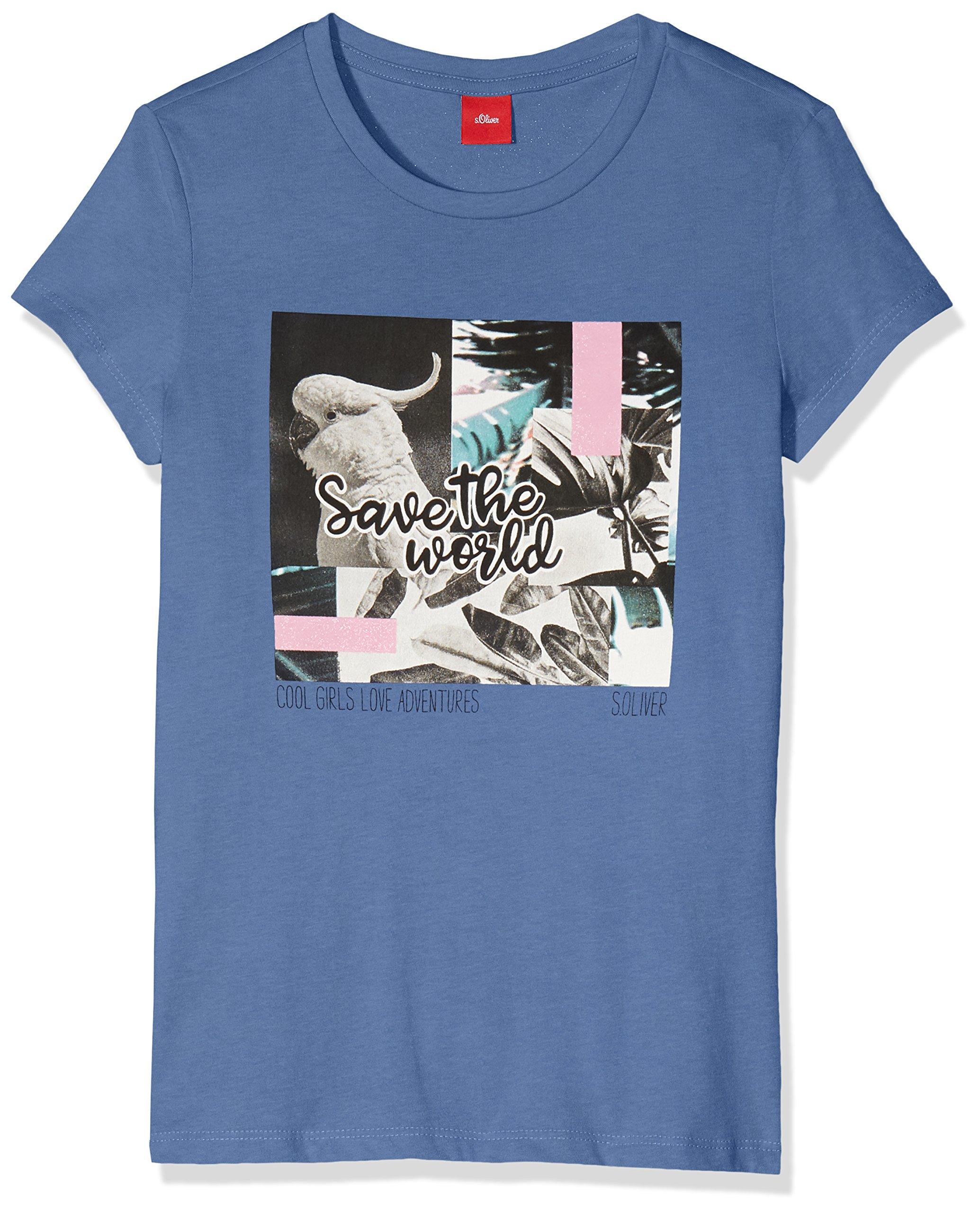 s.Oliver Mädchen T-Shirt 66.805.32.5225, Blau (Light Blue 5550), 140  (Herstellergröße  S Big) 071595fca2