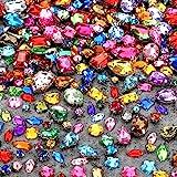 320 Pezzi Cristalli di Vetro Strass da Cucire Cristalli Gemme Acriliche con Foro Argento Puntata Piatto Schiena Artiglio Form