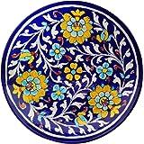 Shiv Kripa Blue Pottery Ceramic Wall Hanging, Multicolour, 20 x 20 x 3 cm