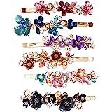 6PZAS Horquillas Coloridas Metálicas Diseño Floral Vintage Pasador Pelo Accesorios Mujeres Niñas